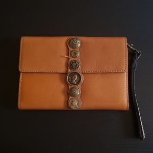 Patricia Nash Brown Leather Wallet